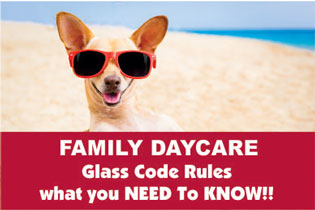 daycare and childcare glass standards and codes